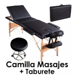 Camilla Masajes Tatuador 3 Cuerpos Bolso +taburete Giratorio