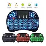 Mini Teclado Inalambrico Con Iluminación Mouse Touchpad