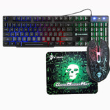 T6 Teclado Y Ratón Kit Gamer Barato Alámbrico Led Light1