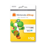 Tarjeta Nintendo Eshop U$10 Usa /entrega Inmediata Gamer24hs