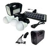 Kit Solar Emergencia Camping 220v 3 Ampolletas