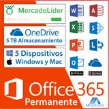 Microsoft Office 365 Windows & Mac   Licencia De Por Vida
