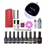 Kit Esmaltado Permanente Lámpara Led Uv 52w Sun 4 Plus