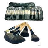 Set 32 Pinceles Y Brochas Maquillaje + Bolso Organizador