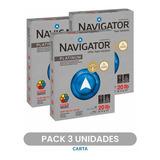 Pack De 3 Resmas Papel Fotocopia Carta 500 Hojas Navigator