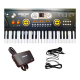 Teclado Piano Organo 5 Octavas Usb Mp3 Aux Power Bank