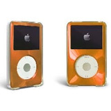 Orange Apple Ipod Classic Estuche Duro Con Revestimiento De