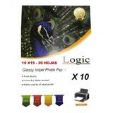 Pack 10 Papel Fotográfico 10x15 200 Grs.