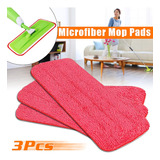 3 En 1 Microfibra Spray Mopa Almohadilla De Reemplazo Lavabl