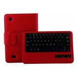 Teclado Bluetooth Tablet Cubierta De Cuero Para Kindle Fire