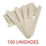 Paletas Para Depilación De Madera Desechables 100 Unidades