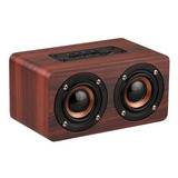 Mini Parlante Vintage Madera- High Resolution Audio