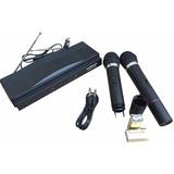 Par De Microfonos Inalambricos + Receptor Doble Para Karaoke
