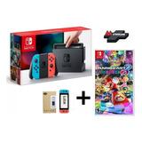 Nintendo Switch Neon + Mario Kart 8 + Mica // Mathogames