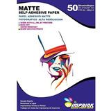 20 Resmas Papel Adhesivo Matte A4/128g 50 Hojas