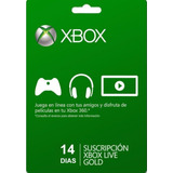 Membresia Xbox Live Gold 14 Días - Xbox 360 - One