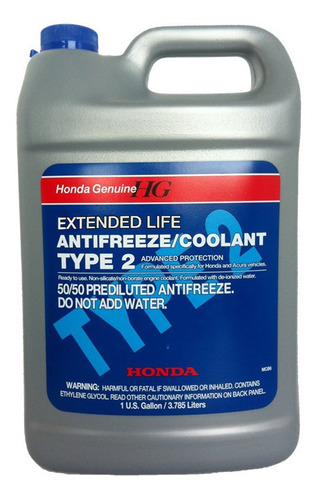 Refrigerante Anticongelante Coolant Type 2 Honda