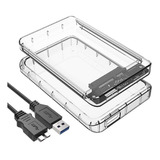 Cofre Case Transparente Para Disco Duro Sata  2.5 Usb 3.0