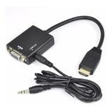 Conversor Adaptador Hdmi A Vga Con Audio 1080 Full Hd Oferta