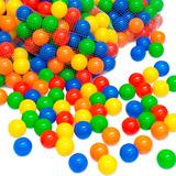 Pack 100 Pelotas Plásticas Para Piscina Colores Surtidos