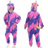 Pijama Kigurumi Unicornio Diamante Talla Niños