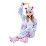 Pijama Unicornio De Estrellas Enterito Niña Y Adulto Enteros