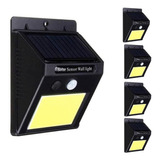 Pack 5 Foco Solar 20 Leds Con Sensor Movimiento Exterior