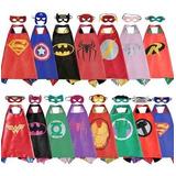 Capas Más Antifaz Superhéroes Y Otros Personajes - Disfraz