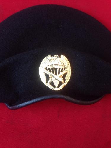 Boina Negra Bullmarck Piocha Comando Ejercito Militar 5c9fc63afbd