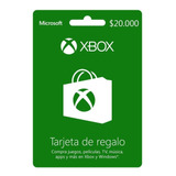 Xbox Live Prepago $20.000 Código Digital