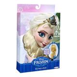 Peluca Tiara Y Trenza De Elsa De Frozen De Disney