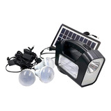 Kit Solar Emergencia Camping 220v Ampolletas 36 Hrs Ml2965