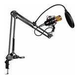 Kit Microfono Estudio Condensador Profesional + Tarjeta Usb