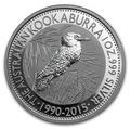 Onza Kookaburra: 1 Dollar Australia 2015 Plata Bunc