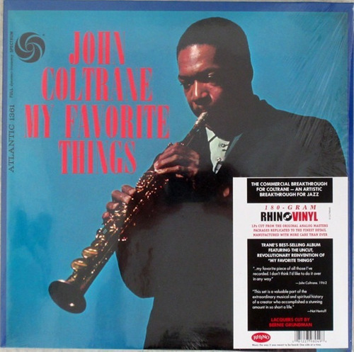 John Coltrane - My Favorite Things Vinilo Nuevo Obivinilos