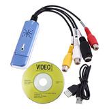 Adaptador Tarjeta Captura De Audio Vídeo Easycap Usb 2.0 Vhs
