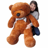 Oso Peluche Gigante Color Chocolate 120cm Despacho Gratis Rm