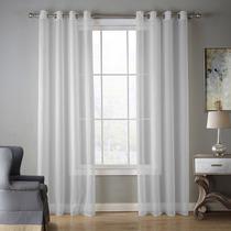 Bebling Grommet Semi Sheer Curtains 2 Piezas Paneles Eleg...