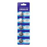 Pack 5 Pilas Micro Litio Bateria Boton Cr2032 3v / 004007