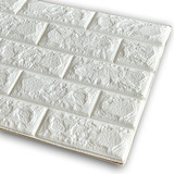 Panel 3d Ladrillo Decoración Pared Blanco 71451/ Fernapet