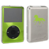 Green Apple Ipod Classic Cubierta Dura De La Caja 6th 80gb