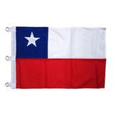 Bandera Chilena En Tela Trevira 100 X 150 Cm