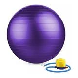 Oferta! Pelota Balon 75 Cm Pilates Yoga + Inflador Pelotas