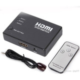 Spliter Switch Hdmi 3x1 1080p 3 Entradas Remoto Full Hd
