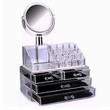 Cosmetiquero Organizador De Maquillaje Acrílico + Espejo