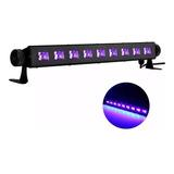 Luz Led Uv Negra Para Fiestas Fluor Ultravioleta Barra 9x3w