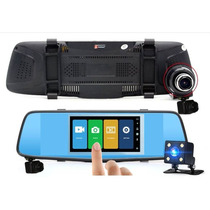 Camara De Auto Touch Triple Camara Retroceso Dash Cam Fullhd
