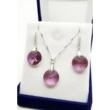 Conjunto Set Plata 925 Fabricado Con Cristales De Swarovksi®