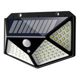 Foco Solar 114 Led 10w Sensor Movimiento