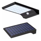 Foco Solar Luminaria 9w Exterior Panel Con Sensor Y Soporte